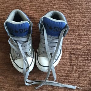 Converse high tops Chucks youth 13 blue gray jr